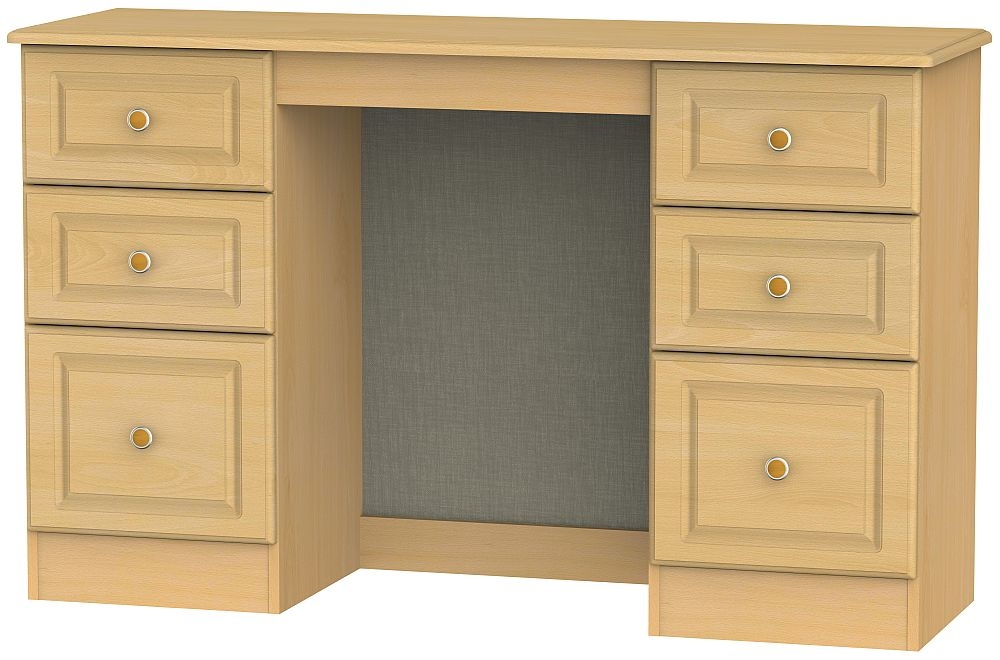 Pembroke Beech Double Pedestal Dressing Table