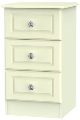 Pembroke Cream 3 Drawer Bedside Cabinet