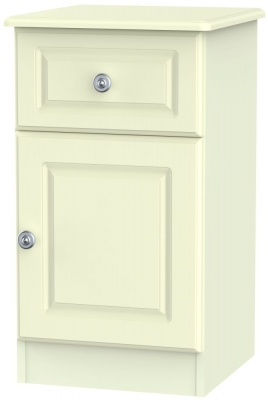 Pembroke Cream 1 Door 1 Drawer Bedside Cabinet