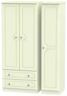 Pembroke Cream 3 Door 2 Left Drawer Wardrobe