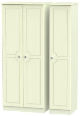 Pembroke Cream 3 Door Plain Wardrobe