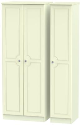 Pembroke Cream 3 Door Tall Plain Wardrobe