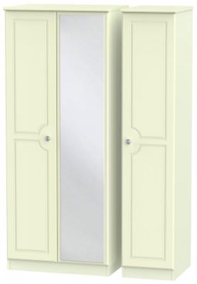 Pembroke Cream 3 Door Mirror Wardrobe