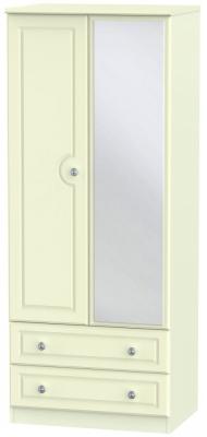 Pembroke Cream 2 Door Mirror Combi Wardrobe