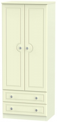 Pembroke Cream 2 Door 2 Drawer 2ft 6in Wardrobe