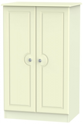 Pembroke Cream 2 Door Plain Midi Wardrobe