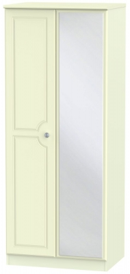 Pembroke Cream 2 Door Mirror Wardrobe