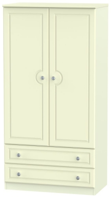 Pembroke Cream 2 Door 2 Drawer 3ft Wardrobe