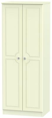 Pembroke Cream 2 Door Tall Plain Wardrobe