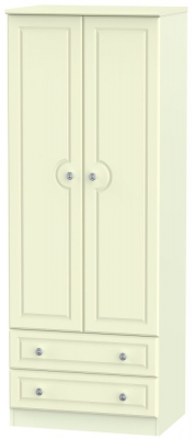 Pembroke Cream 2 Door 2 Drawer Tall Wardrobe