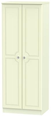 Pembroke Cream 2 Door Tall Hanging Wardrobe
