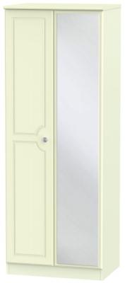 Pembroke Cream 2 Door Tall Mirror Wardrobe