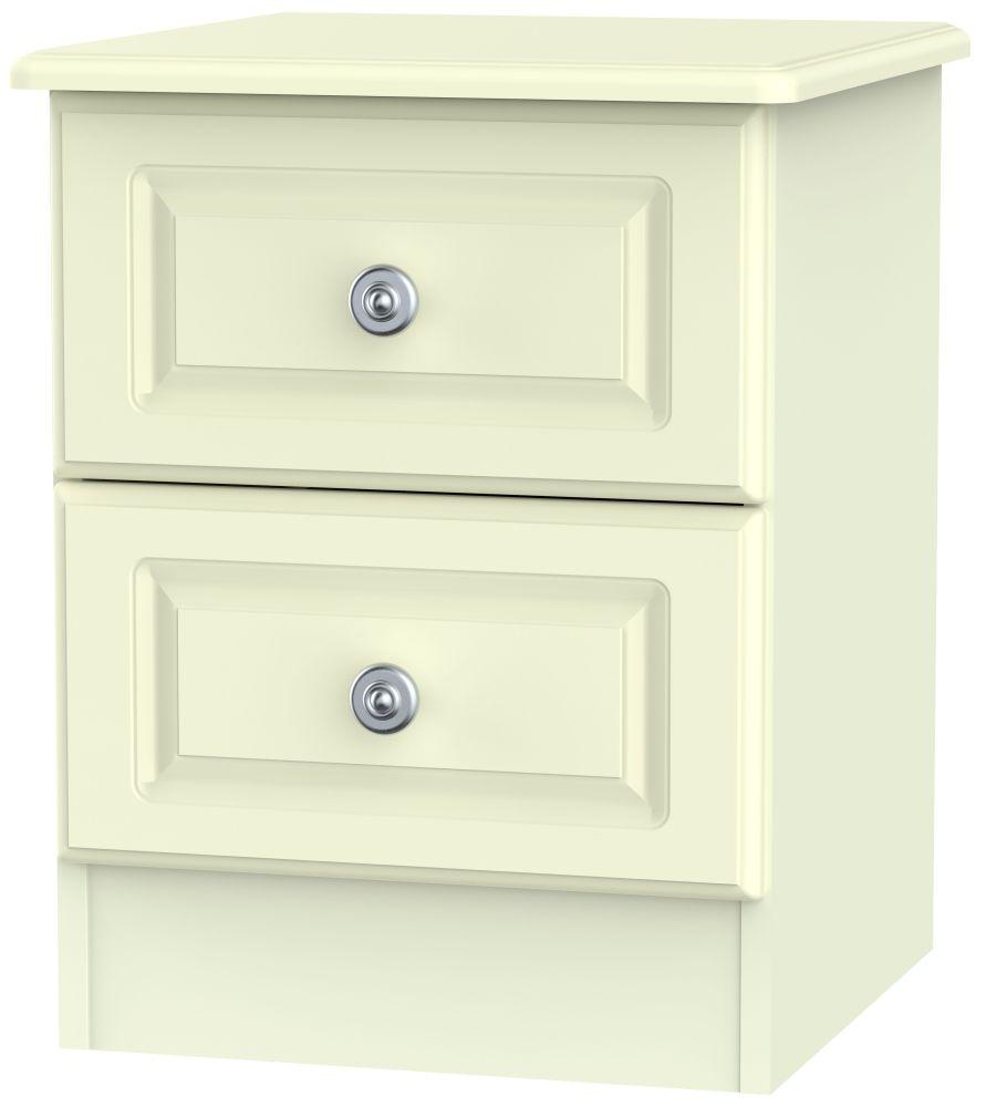 Pembroke Cream 2 Drawer Locker Bedside Cabinet
