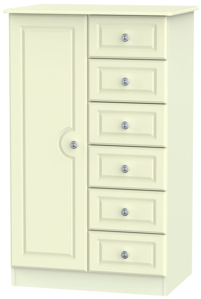 Pembroke Cream 1 Door 6 Drawer Children Wardrobe