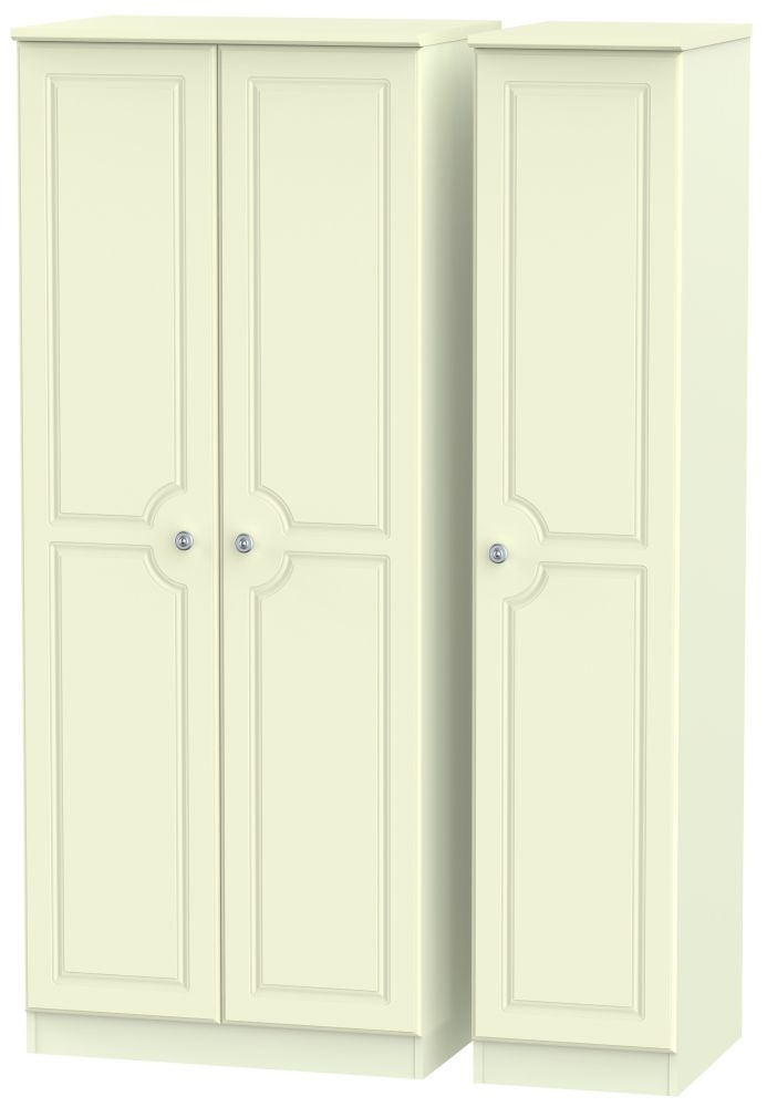 Pembroke Cream Triple Wardrobe - Plain