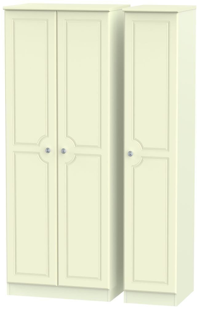 Pembroke Cream 3 Door Tall Plain Wardrobe