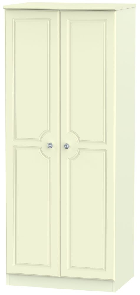 Pembroke Cream 2 Door Plain Wardrobe