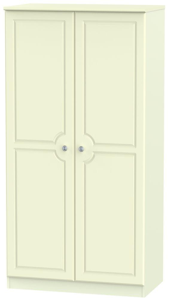 Pembroke Cream 2 Door 3ft Plain Double Wardrobe