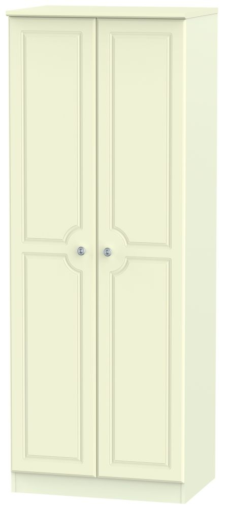 Pembroke Cream 2 Door Tall Plain Double Wardrobe