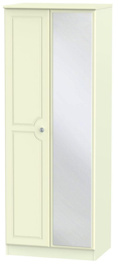 Pembroke Cream Wardrobe - Tall 2ft 6in with Mirror