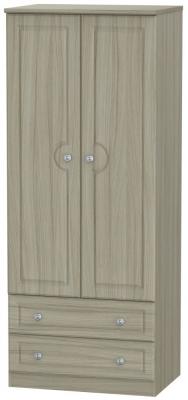 Pembroke Driftwood 2 Door 2 Drawer 2ft 6in Wardrobe