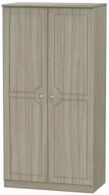 Pembroke Driftwood 2 Door Plain Wardrobe
