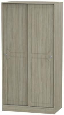 Pembroke Driftwood Wardrobe Sliding - 100cm Wide