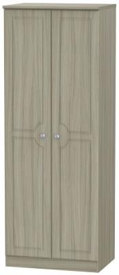 Pembroke Driftwood 2 Door Tall Plain Wardrobe