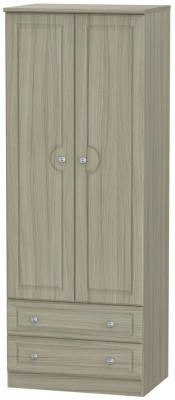 Pembroke Driftwood 2 Door 2 Drawer Tall Wardrobe
