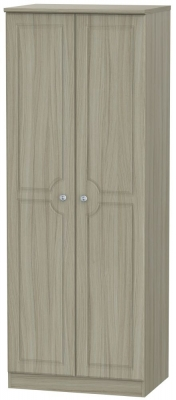 Pembroke Driftwood 2 Door Tall Hanging Wardrobe