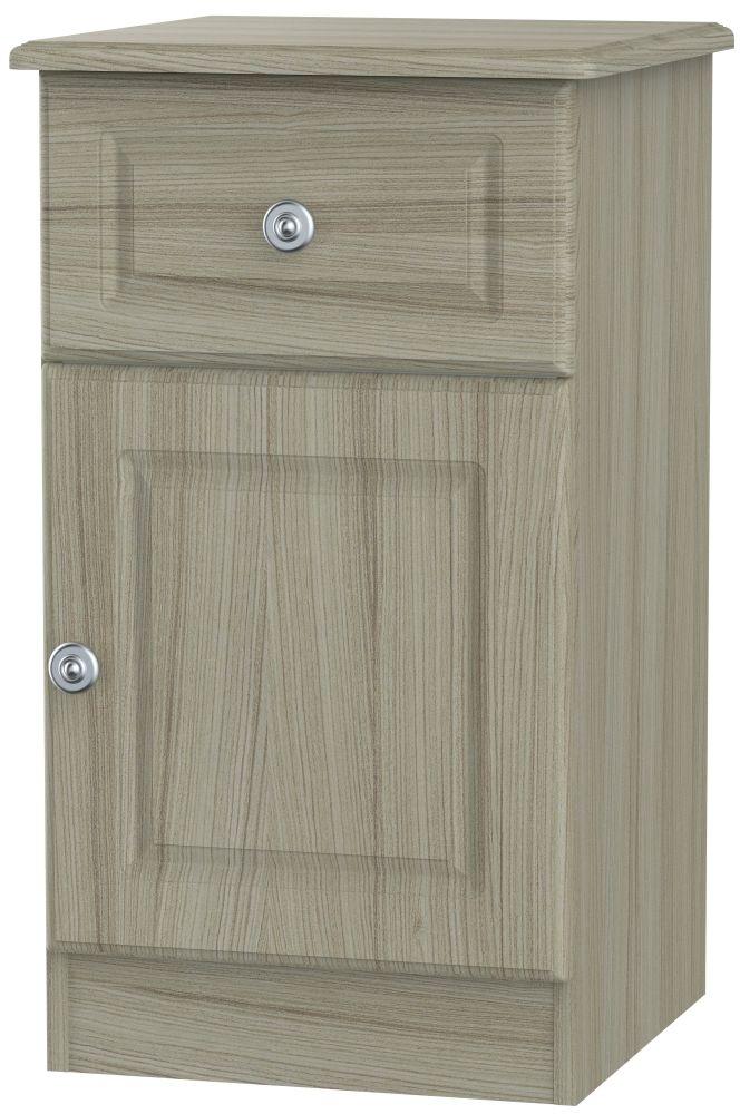 Pembroke Driftwood 1 Door 1 Drawer Bedside Cabinet