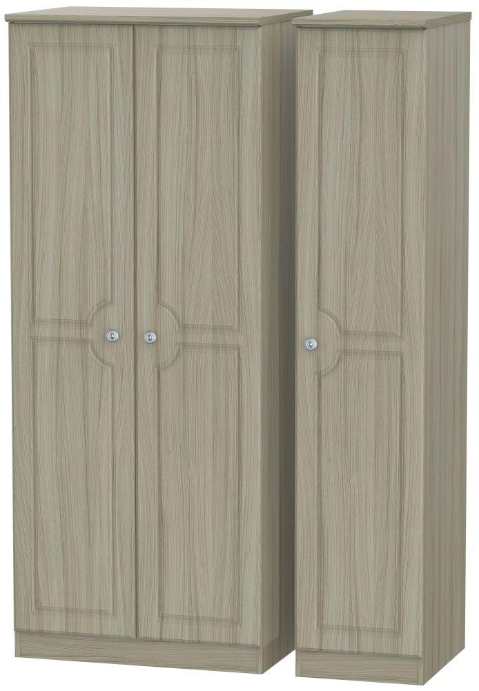Pembroke Driftwood Triple Wardrobe - Plain