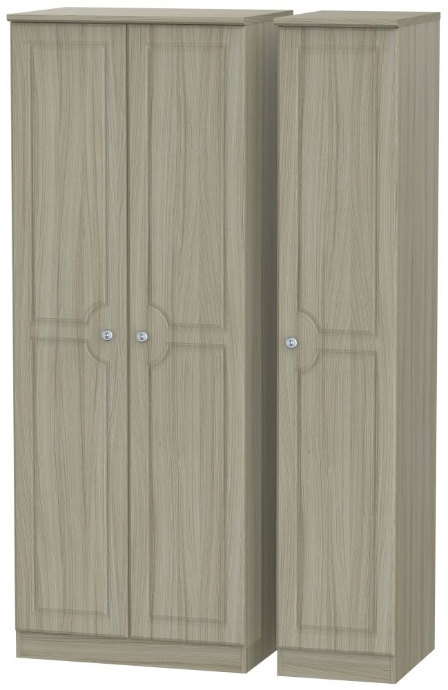 Pembroke Driftwood 3 Door Tall Plain Triple Wardrobe