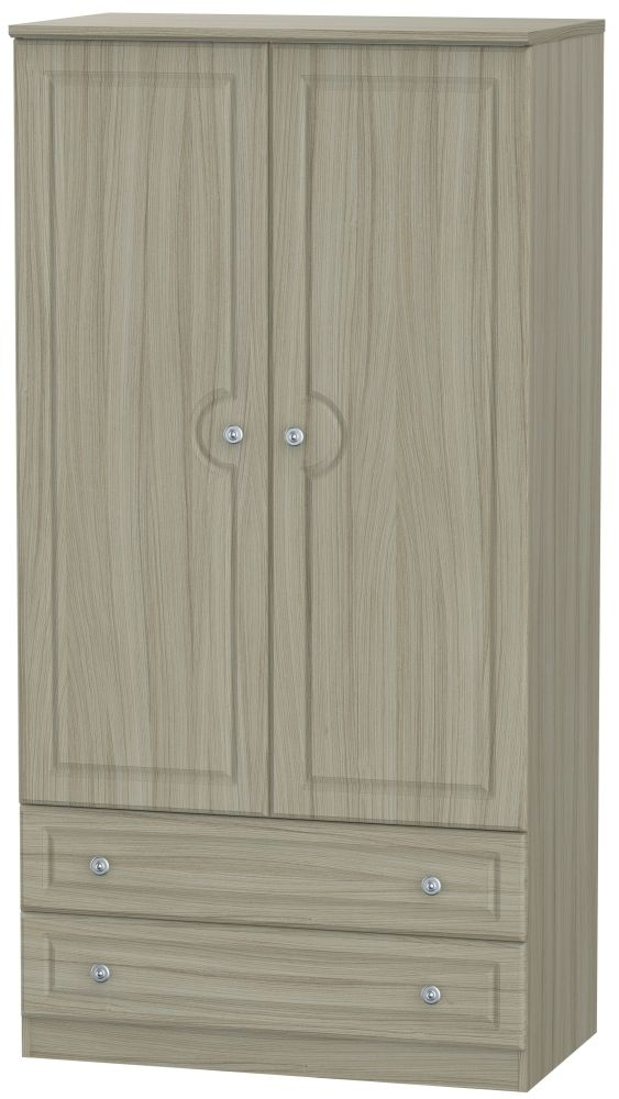 Pembroke Driftwood 2 Door 2 Drawer 3ft Double Wardrobe