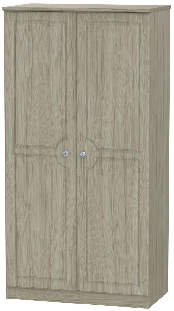 Pembroke Driftwood 2 Door 3ft Plain Double Wardrobe
