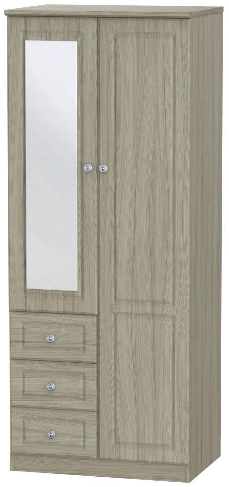 Pembroke Driftwood Wardrobe - Combi