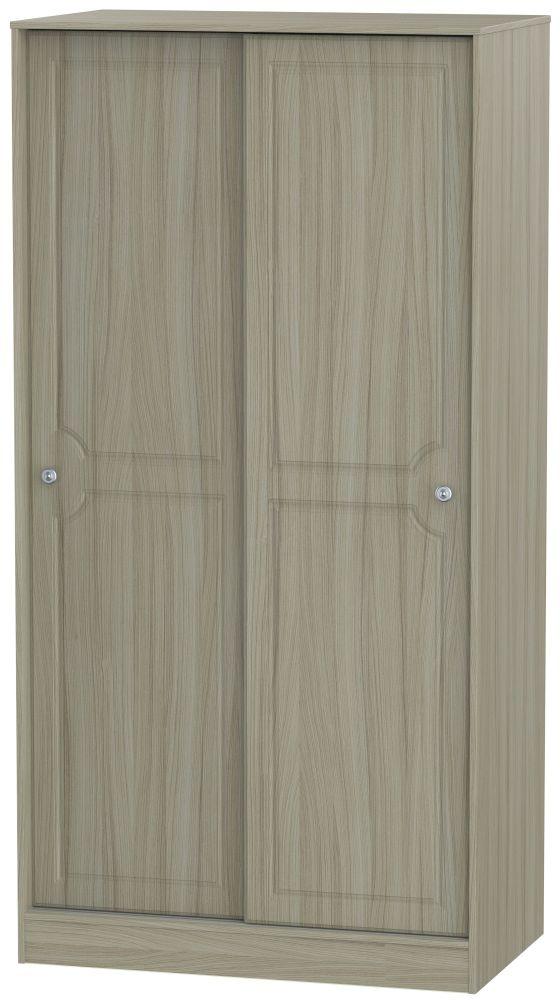 Pembroke Driftwood 2 Door Wide Sliding Wardrobe