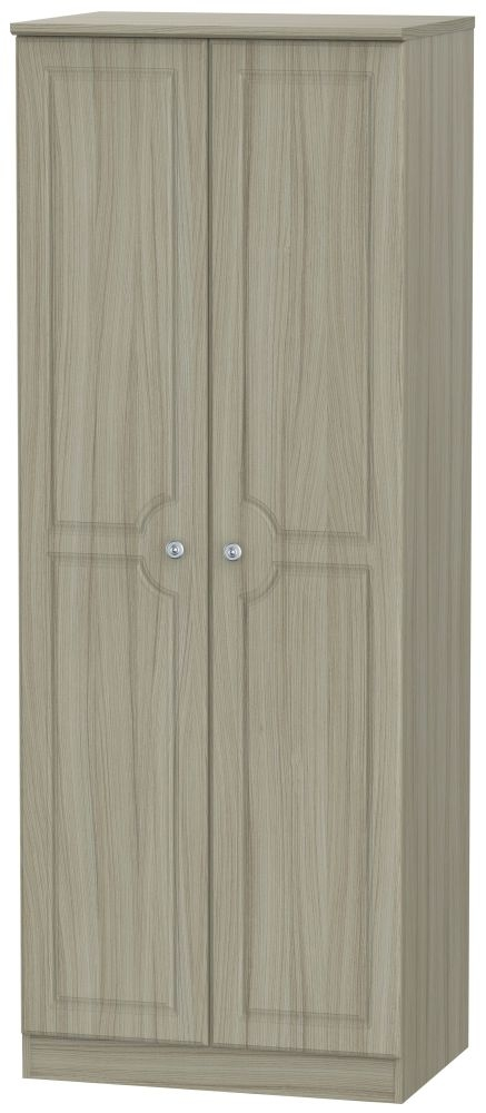 Pembroke Driftwood 2 Door Tall Plain Double Wardrobe