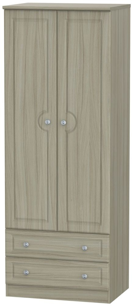 Pembroke Driftwood 2 Door 2 Drawer Tall Wardrobe