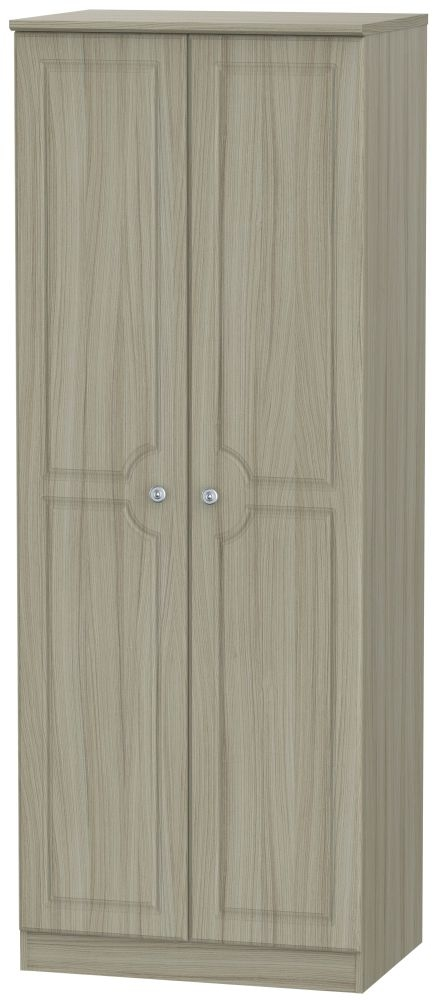Pembroke Driftwood 2 Door Tall Double Hanging Wardrobe