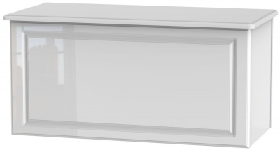 Pembroke High Gloss White Blanket Box