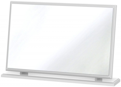 Pembroke High Gloss White Mirror - Large