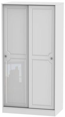 Pembroke High Gloss White 2 Door Sliding Wardrobe