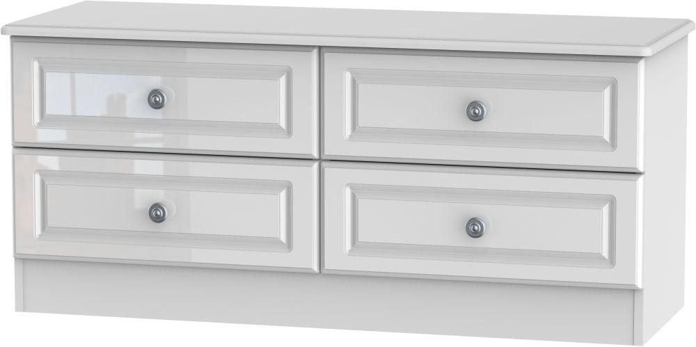 Pembroke High Gloss White Bed Box