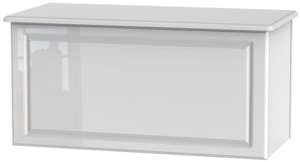 Pembroke High Gloss White Blanket Box