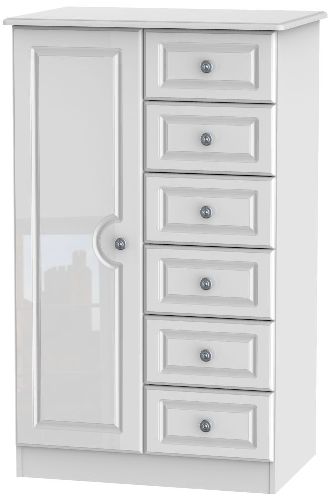 Pembroke High Gloss White 1 Door Children Wardrobe