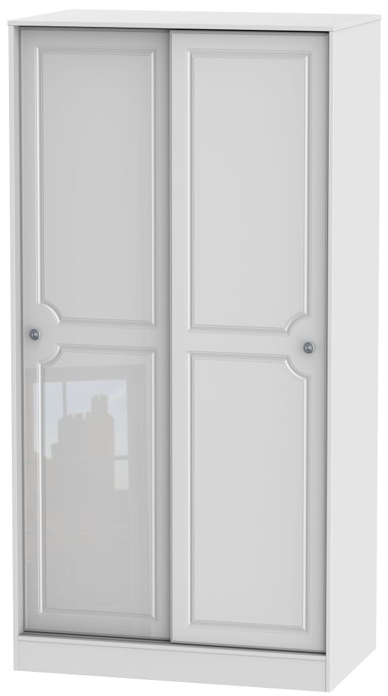 Pembroke High Gloss White Sliding Wardrobe