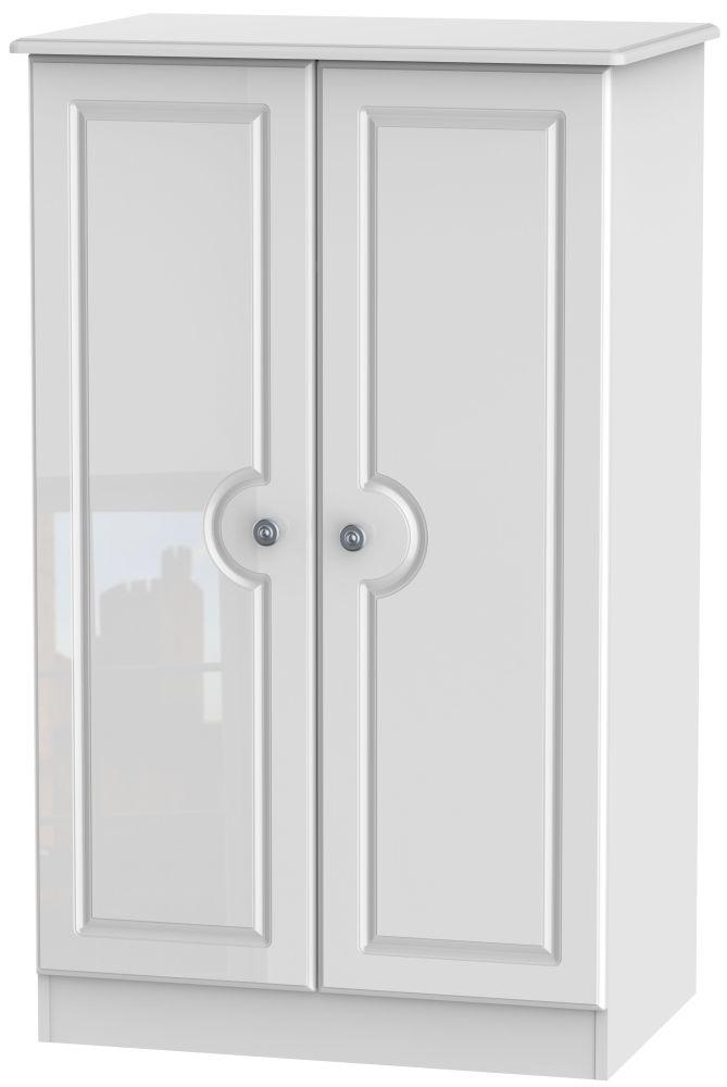 Pembroke High Gloss White Wardrobe - 2ft 6in Plain Midi