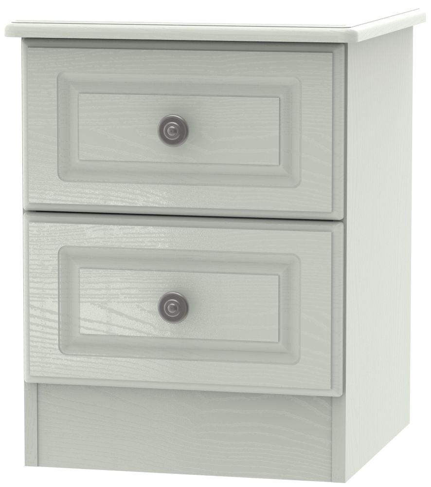 Pembroke Kaschmir Ash 2 Drawer Locker Bedside Cabinet