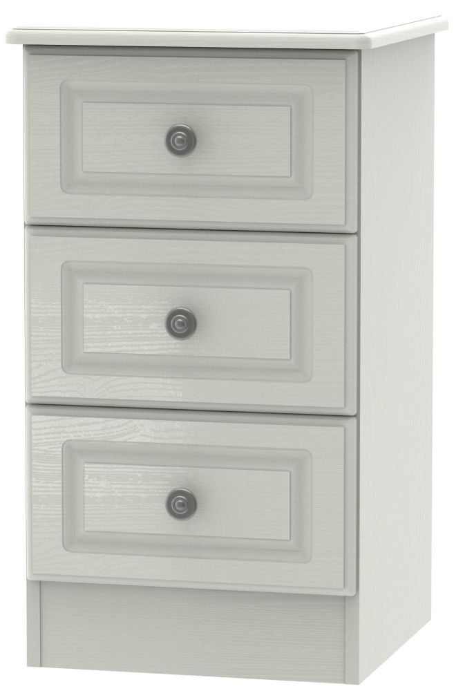 Pembroke Kaschmir Ash 3 Drawer Locker Bedside Cabinet